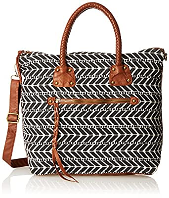 T-Shirt & Jeans Tote with Braided Top Handle Bag