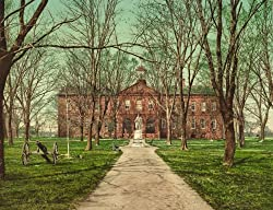 College of William &amp; Mary, 1902 - Print of a Vintage Photochrom Image from the Library of Congress Collection