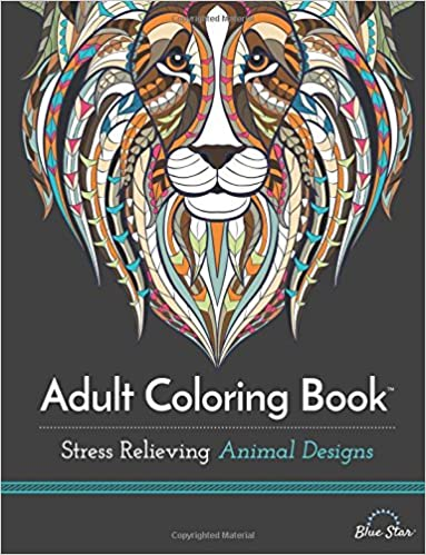 This is on my Wish List: Adult Coloring Book: Stress Relieving Animal Designs: Blue Star Coloring: 9781941325117: : Books