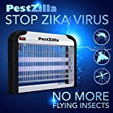 PestZilla™ Robust UV Electronic Bug Zapper - 20 Watts, Large-area Protection - Up to 6,000 Sq. Feet / For Indoor Use - Kills Flies, Mosquitoes, Insects, Etc. - Enjoy an Insect Free Environment