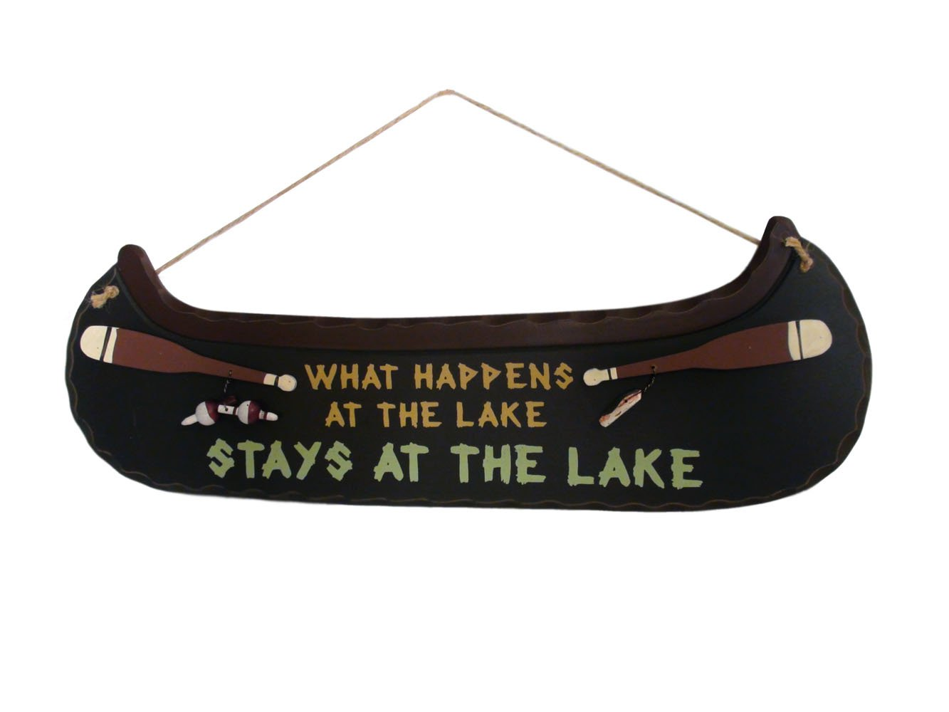 What Happens At the Lake Stays At the Lake Sign Plaque – Lake House Decor
