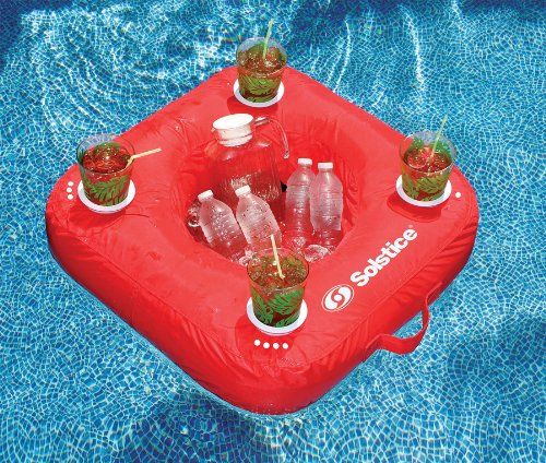 Sunsoft Drink Caddy Floating Cooler - Red