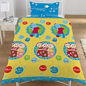 In The Night Garden Tombliboo Yellow Single Duvet Quilt Cover