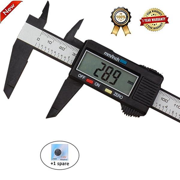 4inch Digital Caliper Electronic Gauge Carbon Fiber Vernier Micrometer Ruler New