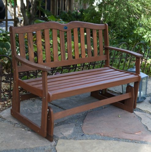 Outdoor Gliders Bench Furniture Swings Retro Loveseat Patio Porch Picnic Wood Outdoors Lawn