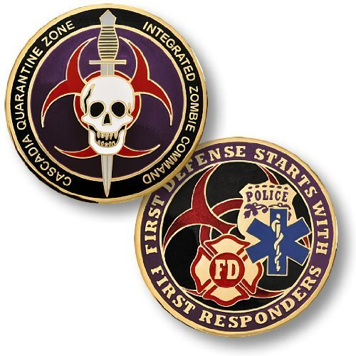 Zombie Challenge Coin - Cascadia Quarantine Zone First Responders
