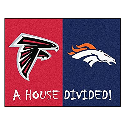 NFL - Atlanta Falcons/Denver Broncos House Divided Rugs Rectangular