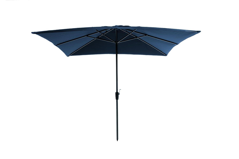 Madison Kurbelschirm Rhodos 280 x 280 quadratisch blau mit UV-Schutz 40 Plus dunkelblau günstig kaufen