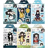 Gorjuss Santoro Rubber Stamp Bundle with Awashed, Fly Away With Me, Little Fishes, Piracy, Spring At Last, Summer Days (Set of 6 Items)