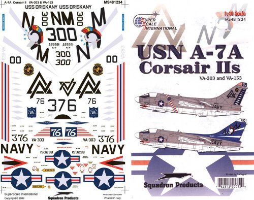 Superscale USA USN A-7A Corsairs IIs Decals #2
