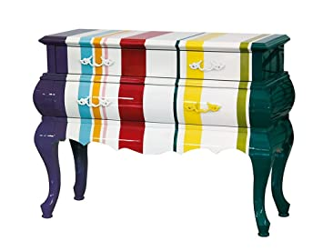 Seletti Trip Furniture - Striped Commode with 2 drawers