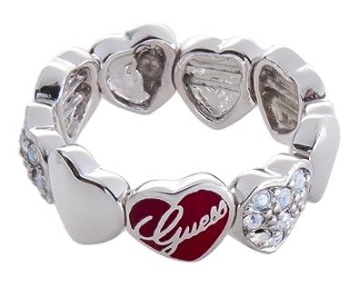 Guess - UBR81006-S - Bague Femme - Acier inoxydable - Cristal - Oxyde de  zirconium - Blanc - T 54  Bijoux e83aba14929