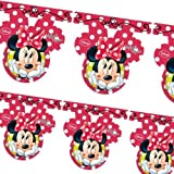 Disney Minnie Mouse Red Polka Dots Party Flag Banner Bunting
