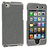 Carbon Fiber Design Crystal Hard Skin Case Cover New for Apple Ipod Touch iTouch 4th Generation Gen 4g 4 8gb 32gb 64gb - Electromaster(TM) Brand