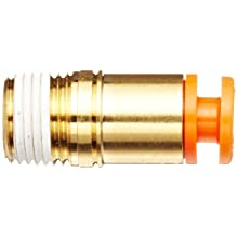 SMC KQ2S Push-to-Connect Tube Fitting, Adapter, Brass Body, Tube OD x NPT Male, Hex Socket Head, With Sealant, Inch