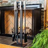 Modern 5-Piece Fireplace Toolset