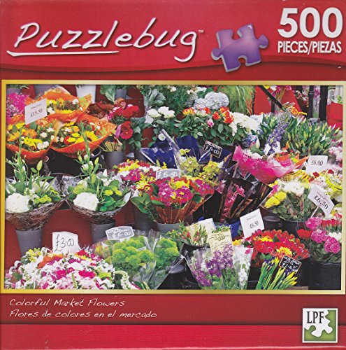 Puzzlebug 500 Piece Puzzle ~ Colorful Market Flowers