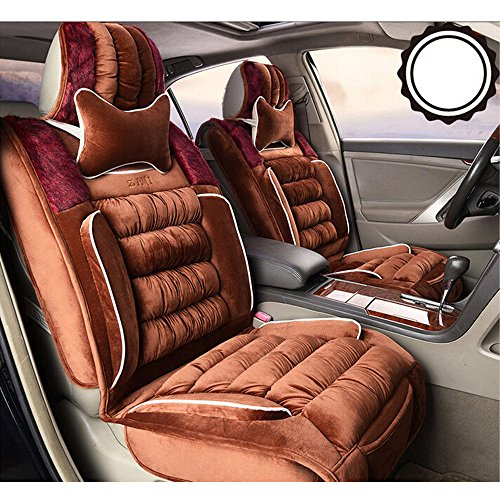 Moonet Car Seat Cover Universal 5 Seats for Camry Corolla Fiesta Tiguan SRX Brown 8pcs (Jeep Jk Seat Covers Camo compare prices)