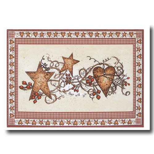 Hearts and Stars Placemats by Linda Spivey