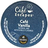 Cafe Escapes Cafe Vanilla Coffee Keurig K-Cups, 24 Count