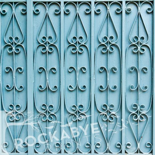Photography Backdrop / Floordrop - 5Ft X 5Ft Teal Metal Gate - Durable Vinyl Backgroud front-634864