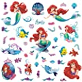RoomMates RMK2347SCS The Little Mermaid Peel and Stick Wall Decals, 1-Pack