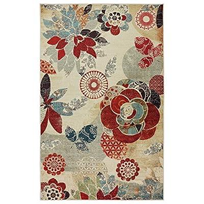 Mohawk Home Strata Geo Floral Pattern Printed Rug