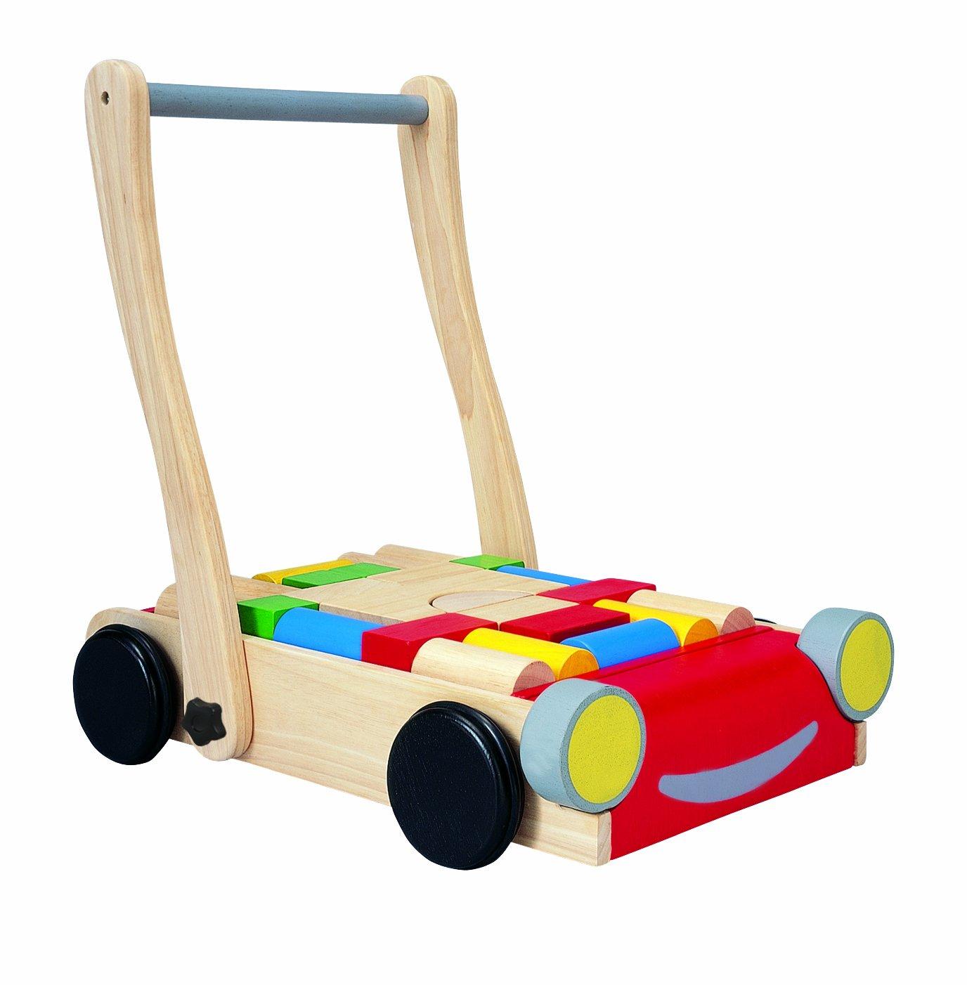 Wooden Baby Walker With Blocks Fel7 Com