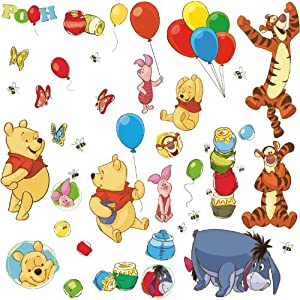 RoomMates RMK1498SCS Pooh and Friends Peel & Stick Wall Decal by RoomMates