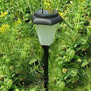 solar powered hexagonal lawn light outdoor
