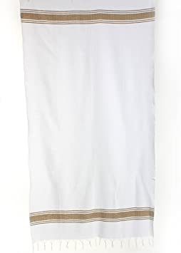 Pestemal 2 Pièce Saune Sultan en bleu marine à rayures blanches Serviette