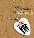 Police Chain / Necklace Bass Guitar Pick Both Sides Printed