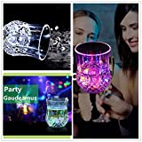 Fairwin LED Flashing Glowing Cup, Water Inductive Wineglass for Home/ Bar/ Party/ Celebration/