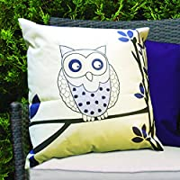 Purple Owls Design Water Resistant Outdoor Filled Cushion for Cane/Garden Furniture by Gardenista