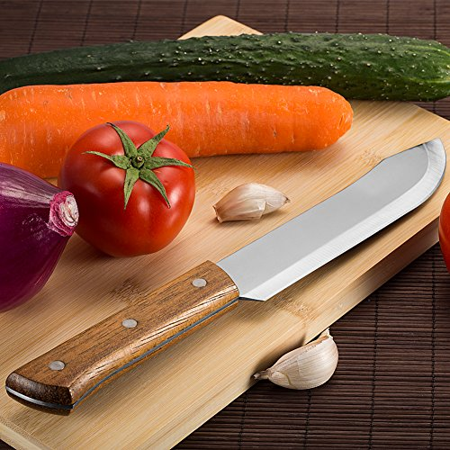 Choppers cleavers archives cast iron wok cast iron wok topbest professional stainless steel 117 inch butcher knife chef knife heavy duty chinese meat chopper cleaver slicing knife with pear wooden handle publicscrutiny Image collections