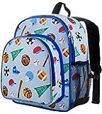 Wildkin Olive Kids Pack 'n Snack Backpack,One Size,Game On