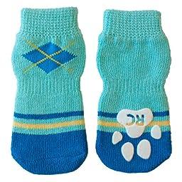 RC Pet Products Pawks Dog Socks, Medium, Preppy