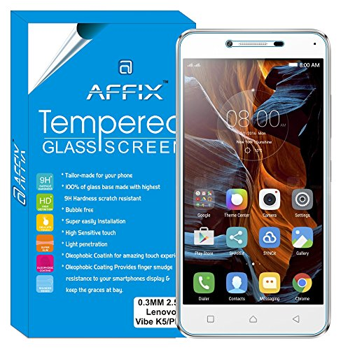 Affix AFLVK5TG Tempered Glass for Lenovo Vibe K5 / Lenovo Vibe K5 Plus (5.0″ Display) , (Transparent)