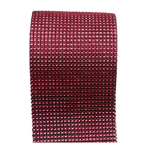 Qianle Diamond Rhinestone Ribbon Wrap Roll-Cake Party Supplies Wedding Decoration Red 1 PC (Wedding Accesories For Party compare prices)