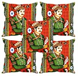Sleep nature's Mughals Printed Cushion Covers Set of Five