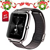 Lemfo LF11 Bluetooth Smart Watch Cell Phone GSM Pedometer Fitness Tracker 430mAh (Black)