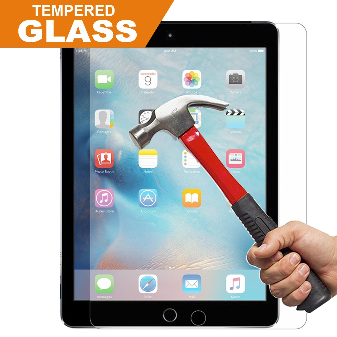 (Lifetime Replacement Warranty) iPad 2 3 4 Screen Protector Glass, InaRock 0.26mm 9H Tempered Glass Screen Protector for iPad 2 / iPad 3 / iPad 4 Most Durable (Easy-Install Wings)