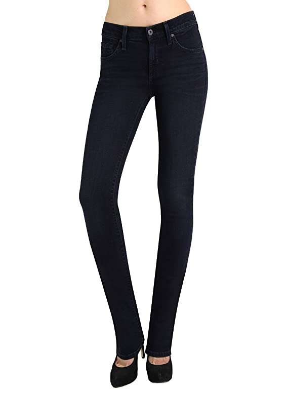 James Jeans Women's High Rise Straight Leg Hunter Bombshell