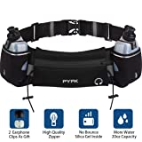 Upgraded Running Belt with Water Bottle, Waist Bag with Adjustable Straps for Men and Women, Large Pocket Running Fanny Pack Fits 6.5 inches Smartphones, Running Hiking Climbing Waist Pack (Color: Black, Tamaño: One Size)