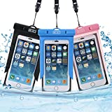 Waterproof Case, 3 Pack UKCOCO Universal Dry Bag for Rafting, Kayaking, Swimming, Boating, Fishing, Skiing Work with iPhone 6 6S Plus SE, Galaxy S6 S7 Edge