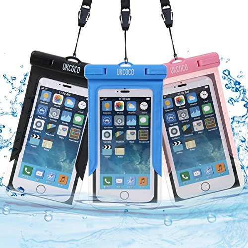 Universal-Waterproof-Case-3-Pack-UKCOCO-Dry-Bag-with-Armband-for-Boating-Hiking-Swimming-Work-with-iPhone-6S-6-Plus-SE-Galaxy-Note-S6-S7-HTC