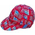 "Mutual Industries 7355-0-0 Kromer Wave Flag Style Welder Cap, Cotton, Length 5"", Width 6"""