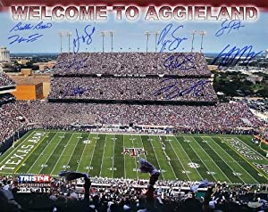 Texas A&M Commemorative 16x20 Photo - 11 Signatures LE of 112 - College Photos by Sports Memorabilia