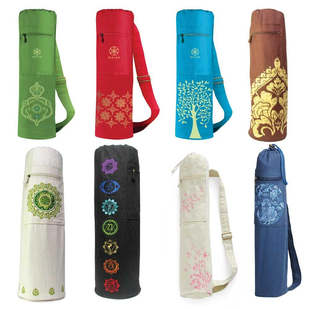 Amazon.com : Gaiam Harmony Tree Yoga Mat Bag : Sports