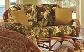 Upholstered Love Seat in Cinnamon